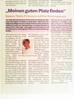 aus Badener Zeitung vom 13. 1. 2005